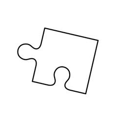 Puzzle pieces concept vector