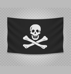 Realistic hanging flag vector