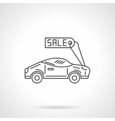 Sale sport car flat line design icon vector