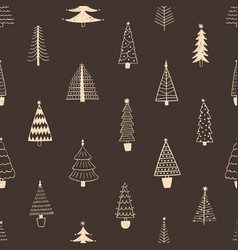 seamless pattern with simple minimalist christmas vector image