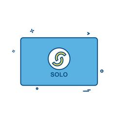 solo card design vector image