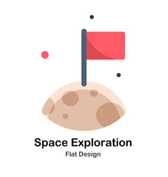 Space exploration flat vector