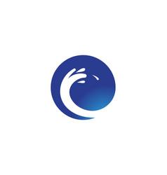 splash water wave beach logo and symbol vector image