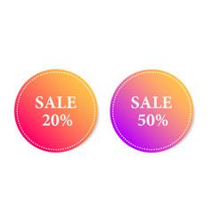 sticker gradient sale vector image