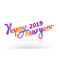 stock happy new year font with vector image
