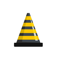 transportation cone icon flat style vector image
