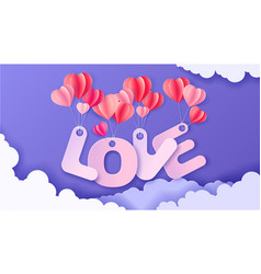 valentines day background with love is in air vector image