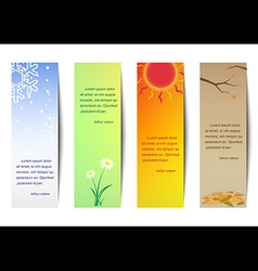 Vertical bookmark season vector
