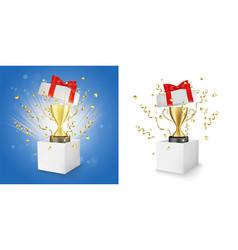 Winner award box concept for banner poster vector