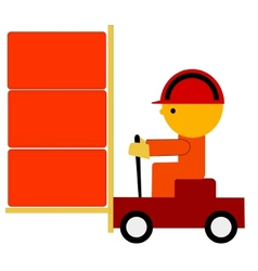worker on trolley vector image