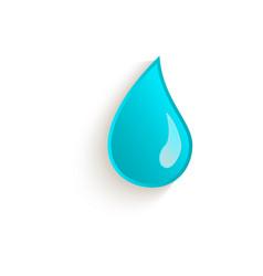 cartoon water drop closeup isolated vector image
