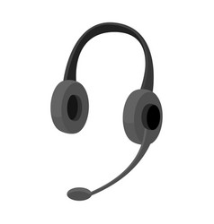 headphones icon in monochrome style isolated on vector image vector image