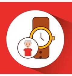 Man gift watch graphic vector