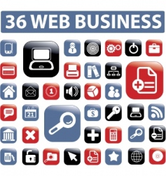 web business buttons vector image