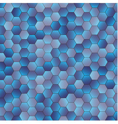 abstract blue hexagon background vector image