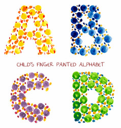 colorful funny paint alphabet vector image vector image