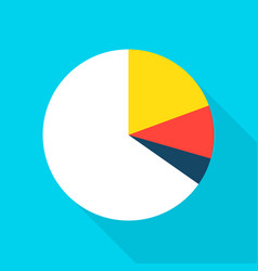 pie chart flat icon vector image vector image