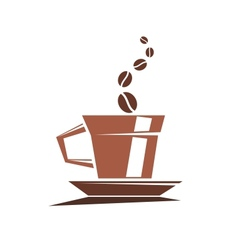 Strong cup of full roast coffee vector image