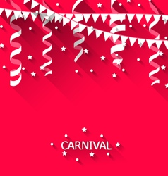 holiday background with hanging pennants for vector image