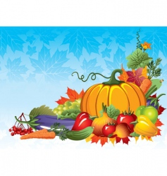 rich harvest vector image vector image
