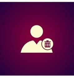 User icon trash vector image