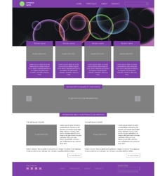 Website template Modern flat style with banner vector image vector image