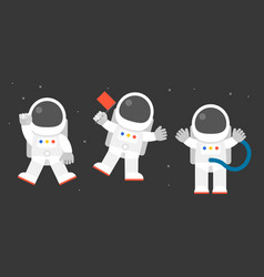 cute astronaut in various post vector image