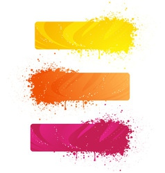 grunge banners in bright colors vector image vector image