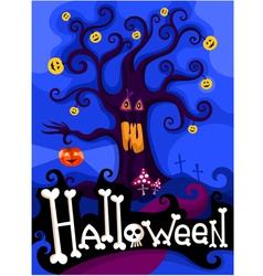 hallowen card vector image