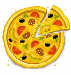 pizza fast food illustration vector image