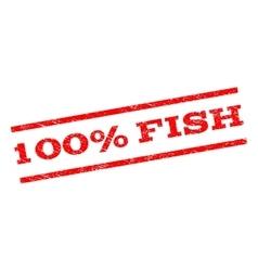 100 percent fish watermark stamp vector