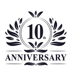 10th anniversary logo 10 years celebration vector