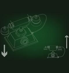 3d model of phone vector