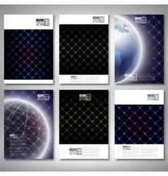 Abstract neon light black textures Brochure flyer vector image