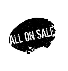 All on sale rubber stamp vector
