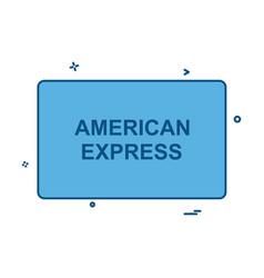american express card icon design vector image