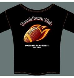 American football t-shirt template vector image vector image