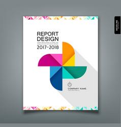 Annual report colorful paper turbine design vector