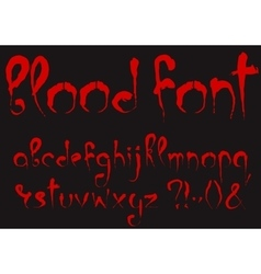 Bloody alphabet set vector image