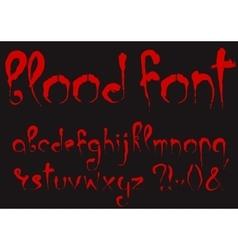 bloody alphabet set vector image