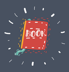 Book hand drawn vector