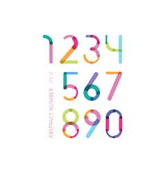Bright numbers consisting of details of different vector