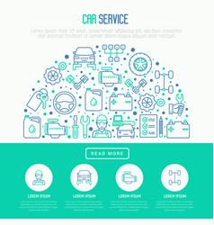 Car service concept in half circle vector