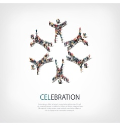 celebration people sign 3d vector image