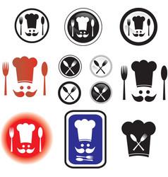 chef symbols vector image