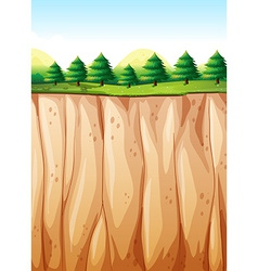 Cliff vector image