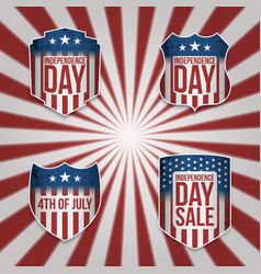 collection of 4th of july banners vector image