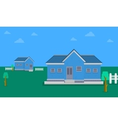 Collection of house landscape theme vector