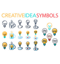 creative success idea logo vector image