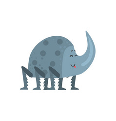 Cute cartoon rhinoceros beetle character vector